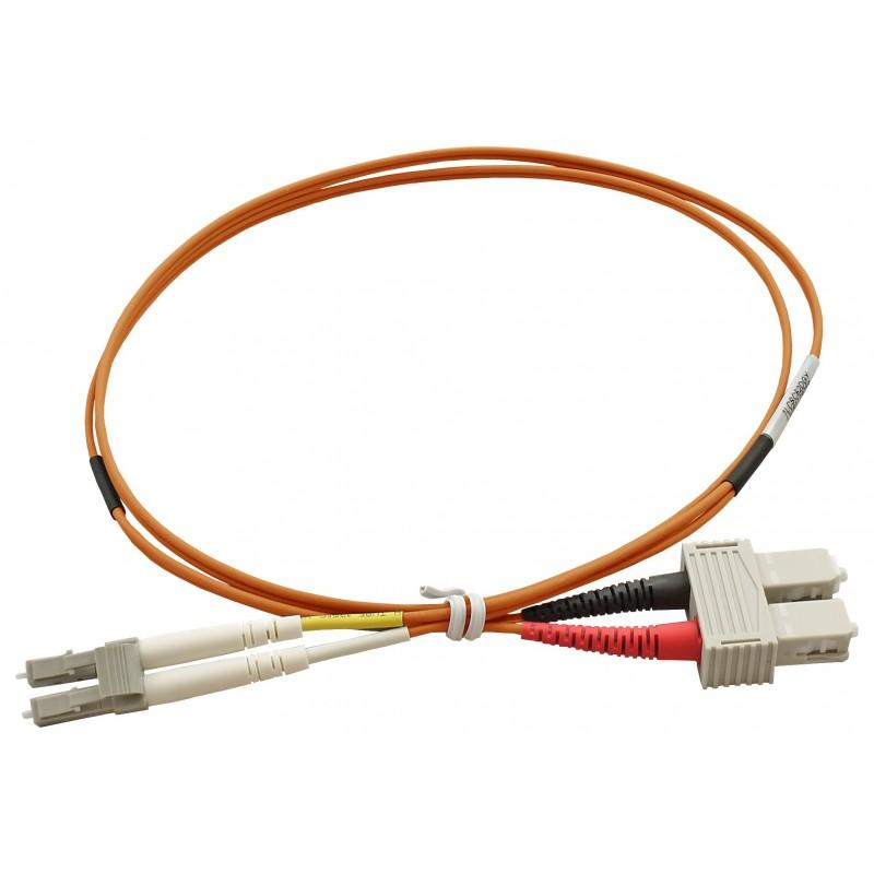 1m LC-SC 9/125 OS2 Duplex Single-Mode PVC Fiber Optic