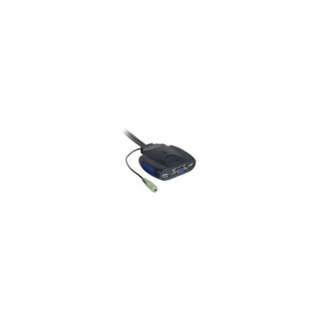 CablesToGo Trulink 2-Port VGA and USB Micro KVM with Audio