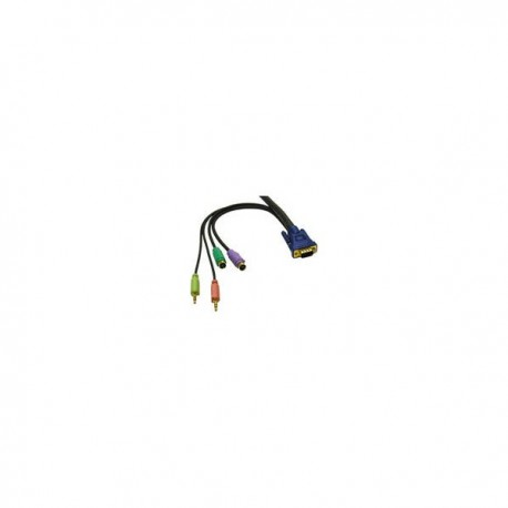 CablesToGo 10m KVM HD15 VGA Cable + Speaker and Mic