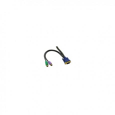 CablesToGo 2m KVM Cable HD15 VGA M/M
