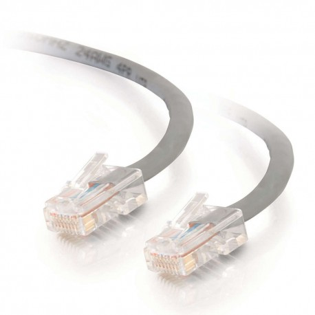 15m Cat5E 350 MHz Non-Booted RJ45 Patch Leads - Grey