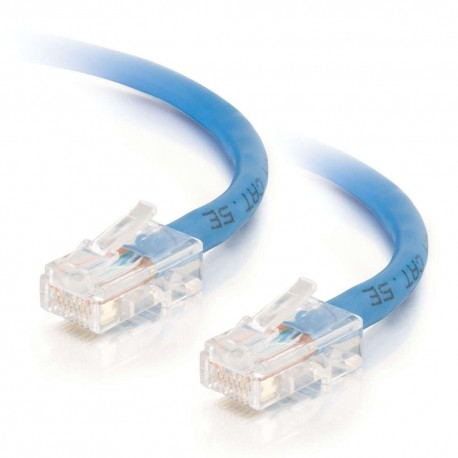 7m Cat5E 350 MHz Non-Booted RJ45 Patch Leads - Blue