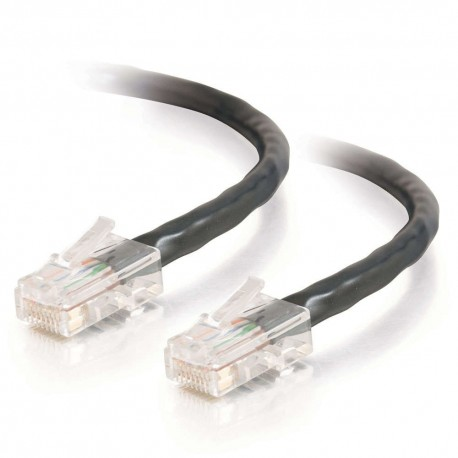 0.5m Cat5E 350 MHz Non-Booted RJ45 Patch Leads - Black
