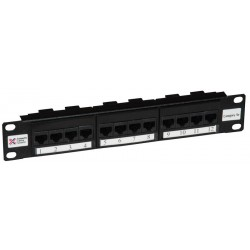"12 Port Cat5e 10"" UTP Patch Panel"
