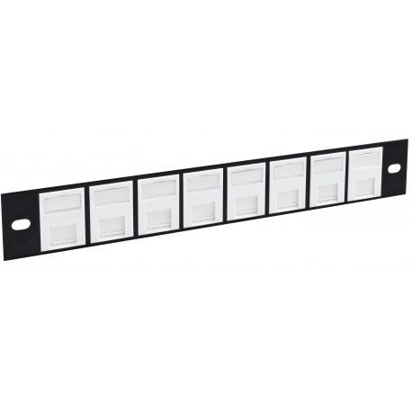 "8 Port Cat6 Shielded FTP 10"" Patch Panel"