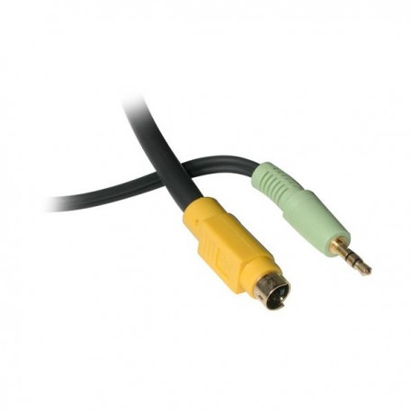 CablesToGo 2m Value Series S-Video + Audio to (3) RCA-Type Adapter Cable