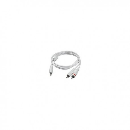 CablesToGo 1m 3.5mm Male to 2 RCA-Type Male Audio Y-Cable - iPod