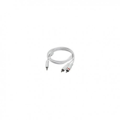 CablesToGo 2m 3.5mm Male to 2 RCA-Type Male Audio Y-Cable - iPod