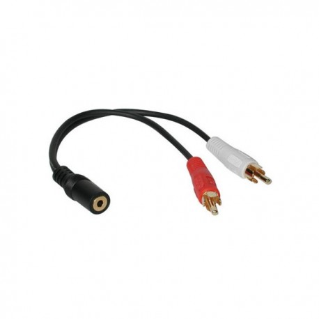 CablesToGo Value Series 3.5mm Stereo Jack/RCA Plug x2 Y-Cable