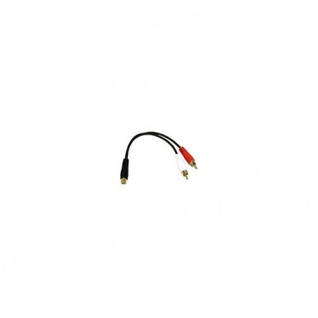 CablesToGo Value Series RCA Jack to RCA Plug x2 Y-Cable