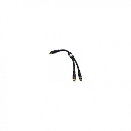CablesToGo Velocity RCA Plug/RCA Jack X2 Adapter Y-Cable