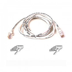 Belkin Cable Patch Cat6 RJ45 Snagless White 1m