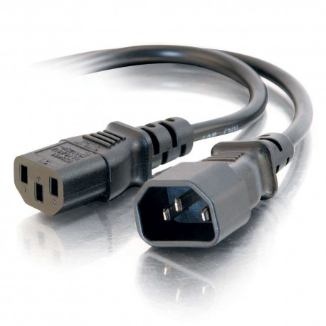 CablesToGo 1.2m 16AWG 250 Volt Computer Power Extension Cord (IEC320 C13- IEC320 C14)