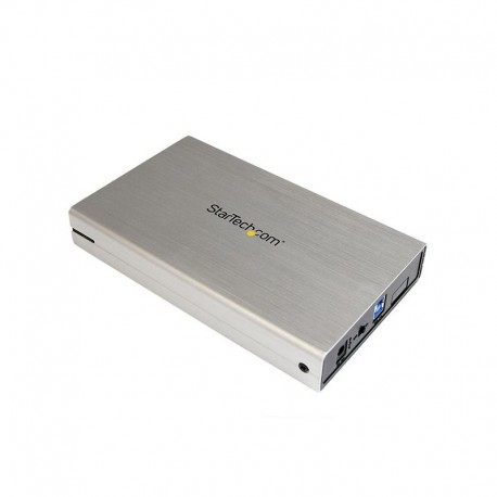 3.5in Silver USB 3.0 External SATA III Hard Drive Enclosure with UASP – Portable External HDD