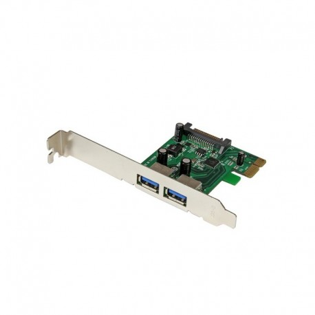 2 Port PCI Express (PCIe) SuperSpeed USB 3.0 Card Adapter with UASP - SATA Power