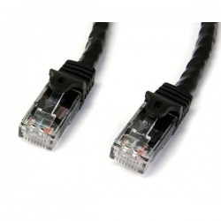StarTech.com 0.5m Black Gigabit Snagless RJ45 UTP Cat6 Patch Cable - 0.5m Patch Cord