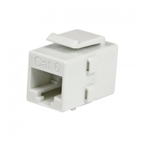 White Cat 6 RJ45 Keystone Jack Network Coupler - F/F