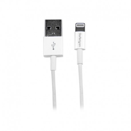 1m (3ft) White Apple® 8-pin Slim Lightning Connector to USB Cable for iPhone / iPod / iPad