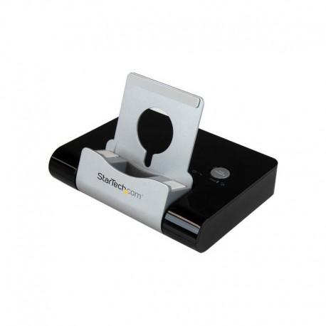 3 port USB 3.0 hub for laptops & Windows-based tablets + fast-charge port & device stand - black