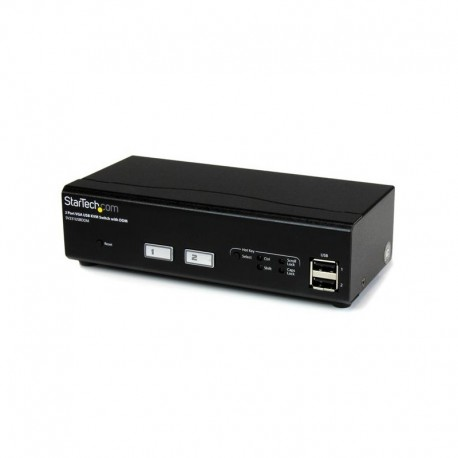 2 Port USB VGA KVM Switch with DDM Fast Switching Technology and Cables