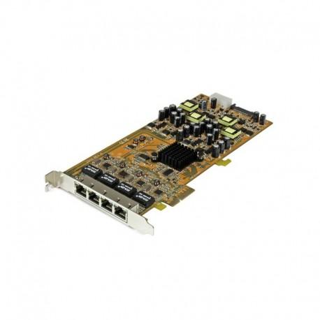 4 Port Gigabit Power over Ethernet PCIe Network Card - PSE / PoE PCI Express NIC