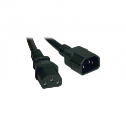 Tripp Lite Standard Computer Power Extension Cord Lead Cable, 10A, 18AWG (IEC-320-C14 to IEC-320-C13), 4.57 m (15-ft.)