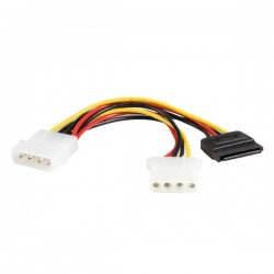StarTech.com 6in LP4 to LP4 SATA Power Y Cable Adapter