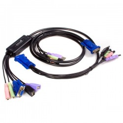 StarTech.com 2 Port USB VGA Cable KVM Switch with Audio