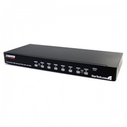 StarTech.com 8 Port Rackmount USB VGA KVM Switch w/ Audio (Audio Cables Included)