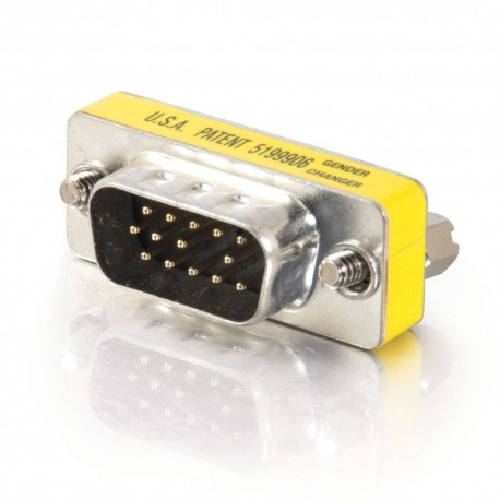 CablesToGo HD15 VGA M/M Mini Gender Changer (Coupler)
