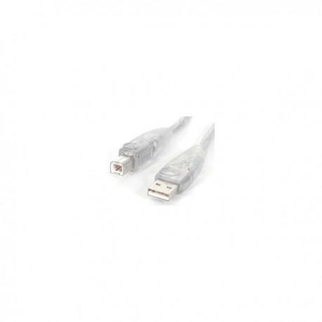 StarTech.com 15 ft. Transparent USB 2.0 Cable A-B M/M