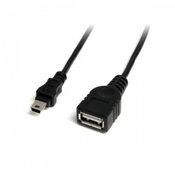 StarTech.com 1 ft Mini USB 2.0 Cable - USB A to Mini B F/M