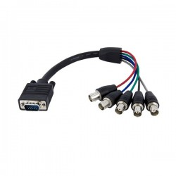 StarTech.com 1 ft Coax HD15 VGA to 5 BNC RGBHV Monitor Cable - M/F
