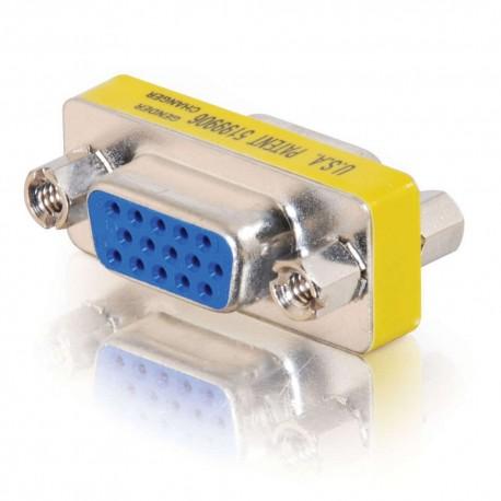 CablesToGo HD15 VGA F/F Mini Gender Changer (Coupler)