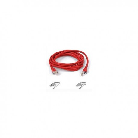 Belkin Patch cable - RJ45(M) - RJ45(M) - 2m ( CAT 5 ) 10/100/1000Base-T - red