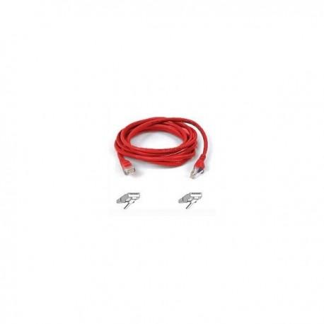 Belkin Patch cable - RJ45(M) - RJ45(M) - 2m ( CAT 5 ) 10/100/1000Base-T - red