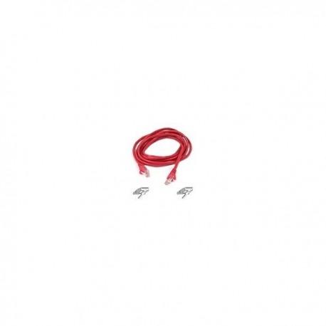 Belkin Patch cable - RJ45(M) - RJ45(M) - 3m ( CAT 5e ) - red