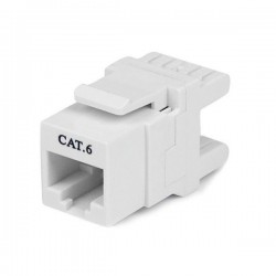 StarTech.com 180° Cat 6 Keystone Jack - RJ45 Ethernet Cat6 Wall Jack White - 110 Type