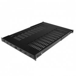 StarTech.com 1U Adjustable Mounting Depth Vented Rack Mount Shelf - Heavy Duty Fixed Rack Shelf - 250lbs / 113kg