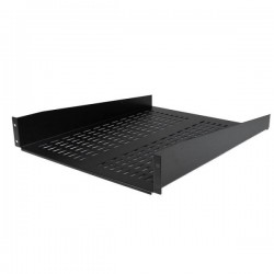 StarTech.com 2U 22in Vented Rack Mount Shelf – Fixed Server Rack Cabinet Shelf - 50lbs / 22kg
