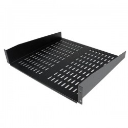 StarTech.com 2U 16in Universal Vented Rack Mount Cantilever Shelf - Fixed Server Rack Cabinet Shelf - 50lbs / 22kg