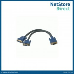 CablesToGo Ultima HD15 Male to Dual HD15 Female SXGA Monitor Y-Cable