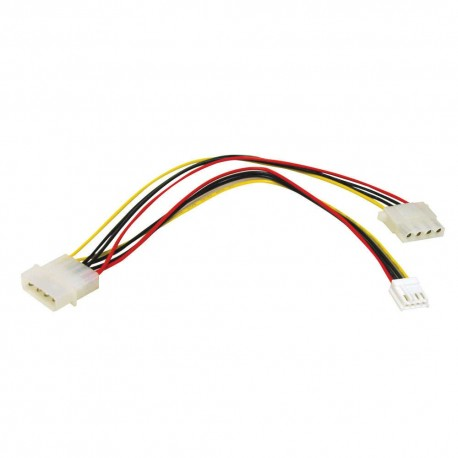 CablesToGo 0.25m One 5.25in to One 3.5in with One 5.25in Internal Power Y-Cable