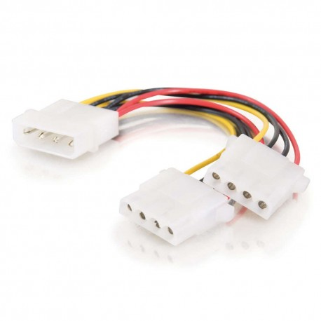 CablesToGo 0.15m One 5.25in to Two 5.25in Internal Power Y-Cable