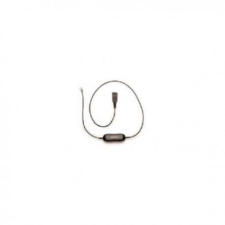 Jabra/GN Netcom QD cord, straight, mod plug