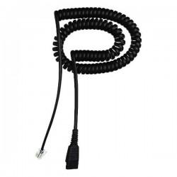 Jabra QD cord, coiled, mod plug