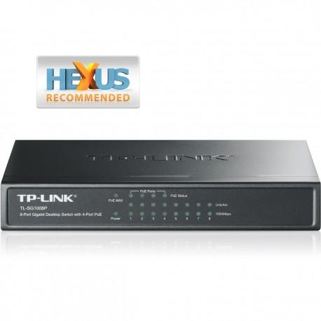 Tp-Link TL-SG1008P 8-Port Gigabit PoE Switch with 4-Port PoE