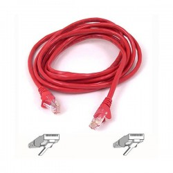 Belkin RJ45 CAT-5e Patch Cable, 2 metre, red