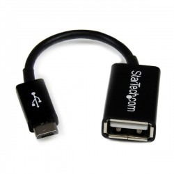 StarTech.com 5in Micro USB to USB OTG Host Adapter M/F