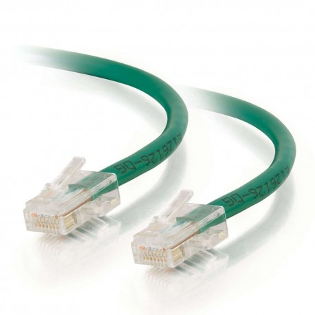10m Cat5E 350 MHz Non-Booted RJ45 Patch Leads - Green